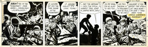 "Caniff : Terry and the Pirates, strip ""Tort in a Fort"" (1943)"