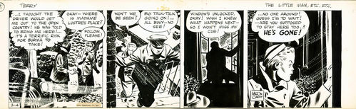 "Caniff : Terry and the Pirates, strip ""The Little Man"" (1941)"