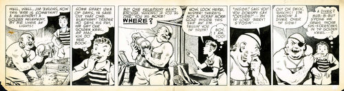 "Waugh : Dickie Dare, strip ""Well, well..."" (années 40)"