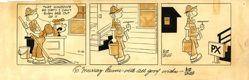 Mort Walker : Beetle Bailey, Strip (1966)